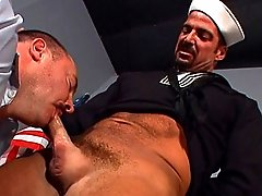 Always suck your commanding officer's hairy cock in the Navy when he commands you to